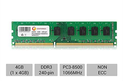 4GB STICK DIMM DDR3 NON-ECC PC3-8500 1066MHz 1066 MHz DDR-3 DDR 3 4G Ram Memory by CENTERNEX