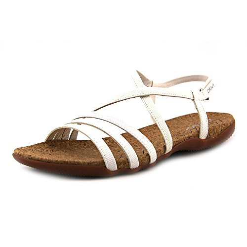 DKNY Womens Shira Paper White Lizard Print Sandals 11 M