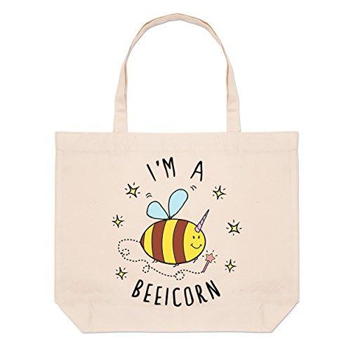 Beach Beeicorn I'm Beeicorn A Tote Beach Bag A Tote I'm I'm Large Bag Large faxa4RqnT