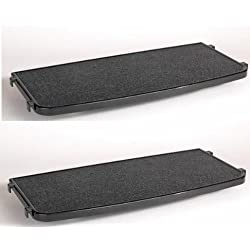 (2 Pack) ProSelect 22-Inch Plastic Cat Cage Perch, Black