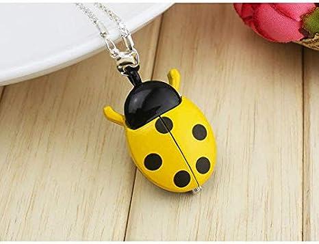 Amazon.com: CHITOP Dropshipping Brand Fashion Colorful Ladybug Necklace Pocket Pendant Dress Quartz Watch Kids Girls Keychain Clock reloj: Cell Phones & ...