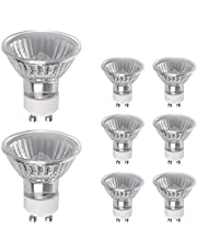 Vicloon GU10 Halogen spotlights, 8 pcs GU10 Halogen Lights Bulbs 50W 220-240V Bulbs Dimmable Warm White