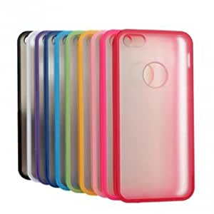 Ultra Slim Transparent Frosted Silicone Case For iPhone 5 --- Color:Purple