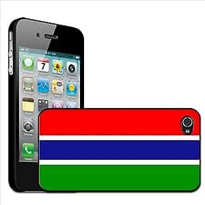 Fancy A Snuggle - Carcasa rígida para iPhone 4 y 4s, diseño de la bandera de Gambia