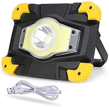 Proyector LED Reflector Batería recargable Luz de trabajo portátil ...