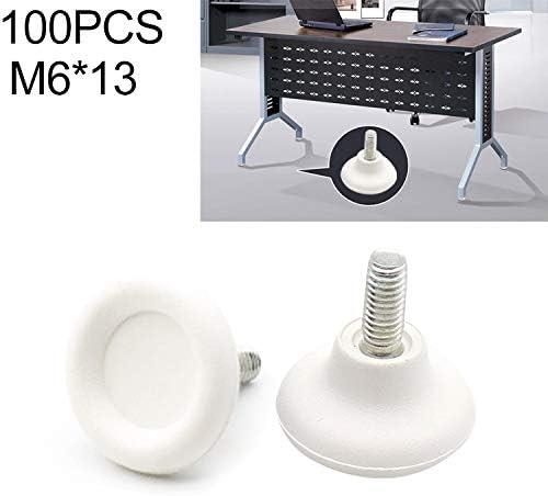 Luoshan 100 PCS Adjustable Foot Pad Furniture Screw Support Stub M6x12