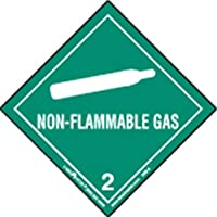 Labelmaster HML4S Non-Flammable Gas Worded Label, Paper, Hazmat, 4 x 4 (Pack of 50)
