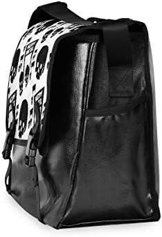 メッセンジャーバッグ メンズ スカル 音楽 白黒 斜めがけ 肩掛け カバン 大きめ キャンバス アウトドア 大容量 軽い おしゃれ