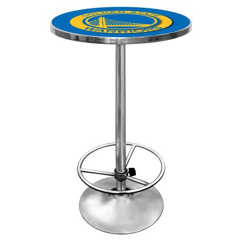 NBA Golden State Warriors Chrome Pub Table by Trademark Gameroom