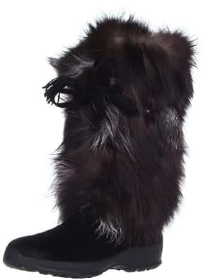 Pajar Women's Fox Trot Boot, Black/Silver Fox, 36 EU/5-5.5 M US