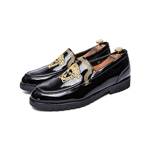 Gran Flysxp Suelas Para Hombres Los Oro Botas Goma Juego Zapatos Cuero Diarios Negocios Vestir De Hombres Casuales Tamaño rXW7Wapwn