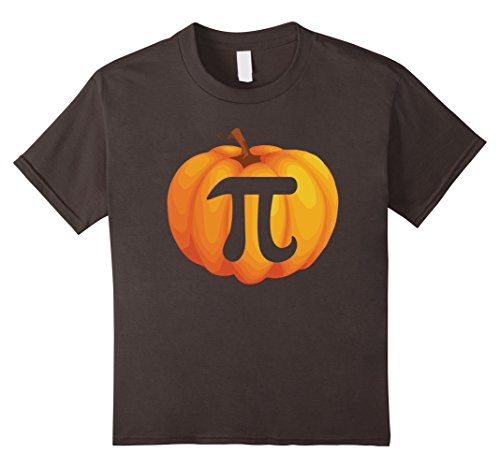 Kids Funny Pumpkin Pi Costume Tshirt - For Halloween Party 10 Asphalt - Pi Day Costumes