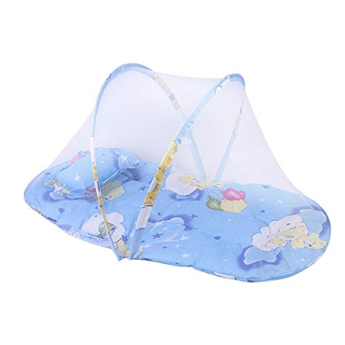 Oliote Durable Practical Baby Folding Mosquito Net with Cotton Pad Crib Netting