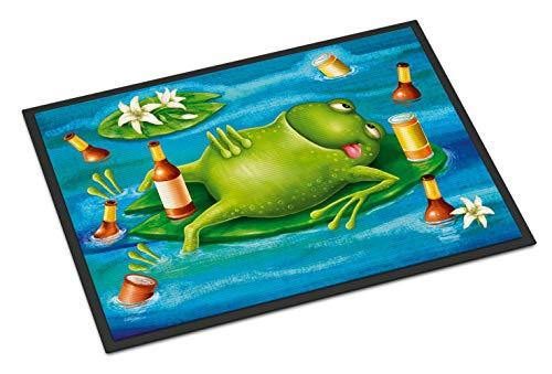- Caroline's Treasures Frog Drinking Beer Indoor or Outdoor Mat 18x27 APH0093MAT, 18