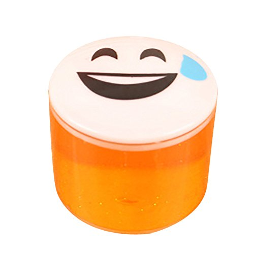 Kanzd Clay Slime DIY Crystal Mud Play Transparent Magic Plasticine Kid Toys (Orange) (Diy Halloween Duck Costume)