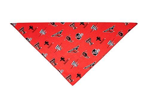 Precious Paw Prints Boutique Texas Tech University Red Raiders Dog Bandana (Large: 14-20 inches)]()