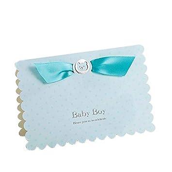 Tarjeta de invitaciones Ponatia 25 piezas, para fiesta rosa, invitaciones para Baby Shower de niña con bebé en lindo carro, incluye sobre rosa y sellos: ...