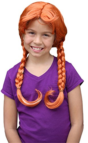 Wendys Wig Toddler Princess Anna Wig For Kids Princess Anna Wig for (Anna Costume Wig)