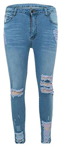 light blue colored jeans - 8