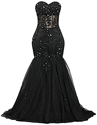 Ants Women's Sweetheart Beaded 2017 Prom Dress Mermaid Wedding Dresses
