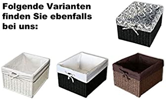 "KMH®, Práctica caja-cesto ""Jytte"" (marrón) estilo Rattan (#204049 ..."