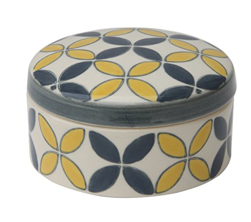 Stoneware Covered Yellow Hand Stamped Design product image