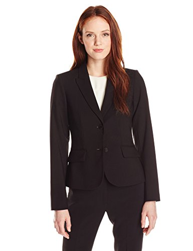 Calvin Klein Women's Two Button Lux Blazer (Standard & Petite Sizes), Black, ()