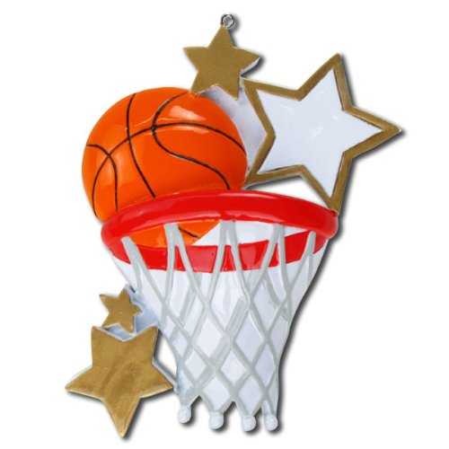 Basketball Personalized Christmas Ornament by Polar