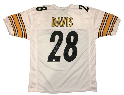 Sean Davis Signed Steelers Custom Authentic-Style White Jersey
