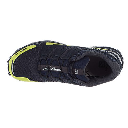 Salomon Speedspike CS Running Shoes - Navy Blazer, Reflective Silver, Lime Punch - Mens - 10 by Salomon (Image #2)