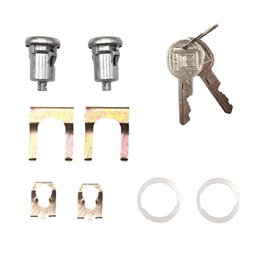 2 Pcs Door Lock Cylinder Set Ignition Lock Switch Cylinder For Chevy Chevrolet Truck GMC Truck