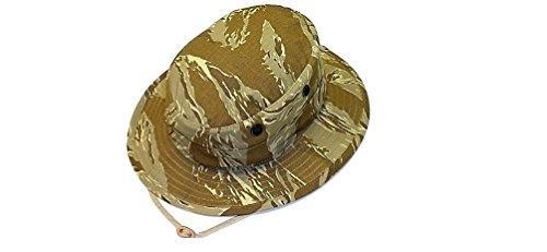 Hat, Boonie Military, Desert Tiger Stripe, 100% Cotton, New, Size 7.25 - M