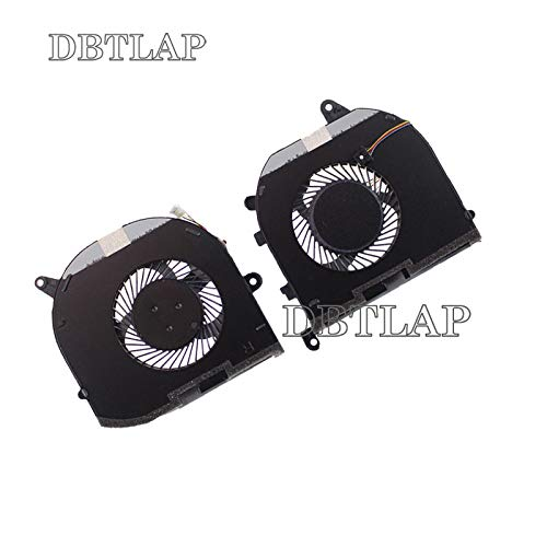 DBTLAP Laptop L R Cooling Fan Compatible for Dell XPS 15 9570 008YY9 0TK9J1 TK9J1 08YY9
