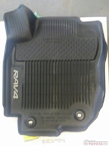 Toyota Rav4 Black All Weather Floor Liners PT908-42165-20 Non-Hybrid
