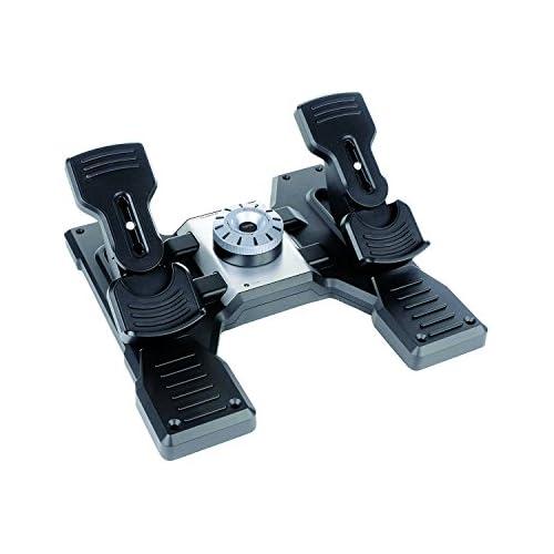 chollos oferta descuentos barato Logitech G Saitek Pro Flight Rudder Pedals Timón Pedales para Vuelo y Freno para Simullación de Vuelo Centrado Automático Tensión Ajustable USB PC Color Negro