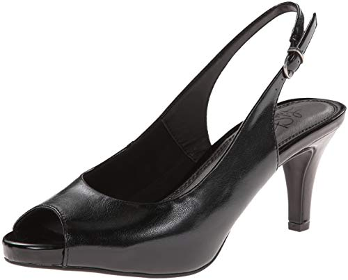 LifeStride Women's Teller, Black Smooth, 8.5 M -