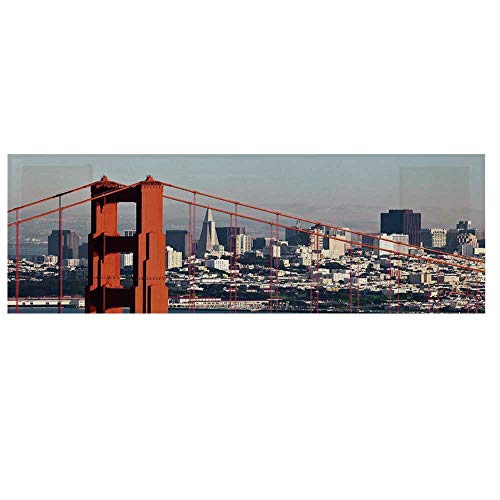 United States Microwave Oven Cover with 2 Storage Bag,San Francisco Bridge and Cityscape Metropolis Financial District Cover for Kitchen,36