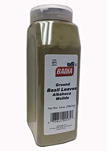 14 oz Bottle Ground Basil Leaves Powder/Albahaca Molida en Polvo ()