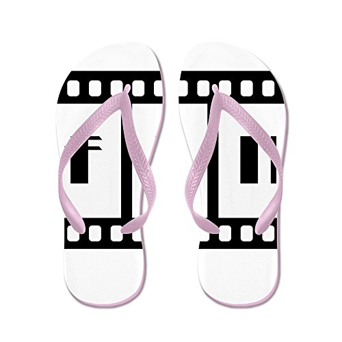 Truly Teague Mens FIN: Old Hollywood Movie Ending Rubber Flip Flops Sandals Pink OOosG