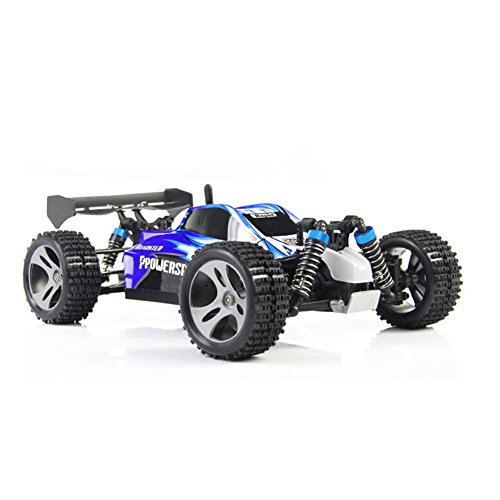 RC Cars Remote Control Car WLtoys 2.4Ghz 4WD Off Road Racing Car 1/18 Scale Rock Crawler Toys Radio Control Vehicle for Kids and Adults (Blue) ()