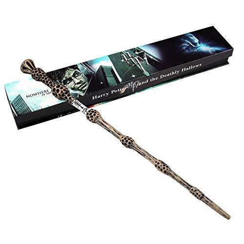 Varita de sa/úco realizada en resina Giulyscreations Ideal para re-evocar la atm/ósfera de Hogwarts Se entrega en estuche Harry Potter disfraces de Cosplay