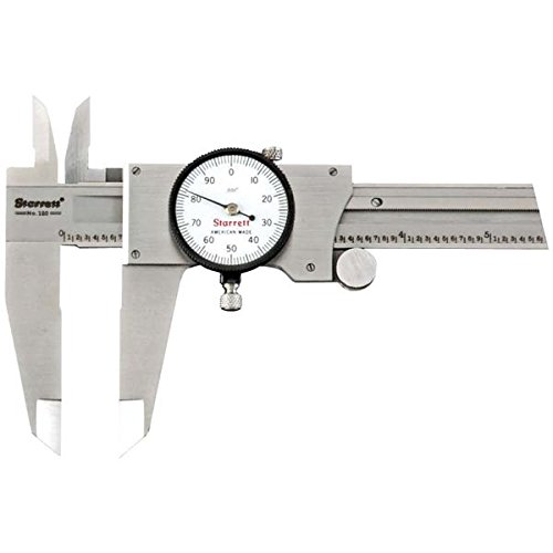 Starrett 120Z-12 Dial Caliper, Stainless Steel, White Face, 0-12'' Range, +/-0.001'' Accuracy, 0.001'' Resolution by Starrett
