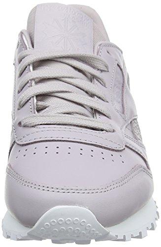 Reebok Chaussures Cl Pastel Luckwhite LTHR Gris PS Lavender de Femme Running rxrqIdT