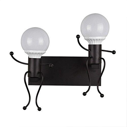 Wlxsx industrielle Wandlampe Der Nordischen Modernen Eisenkunst Dekorative Lampe Des Hotelschlafzimmerwohnzimmers Led