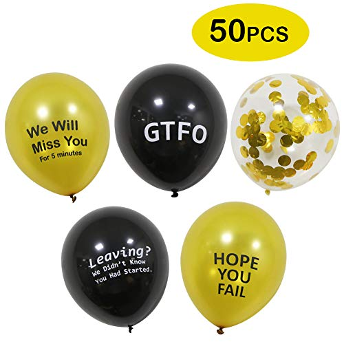 50 Pcs Funny Retirement Party Balloons Funny Coworker Going Away Last Day Office Party Decorations Supplies Balloons Latex Balloons