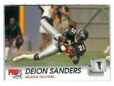 Deion Sanders football card (Atlanta Falcons Hall of Fame) 1992 Pro Set #434 (Of Hall Fame Atlanta Falcons)