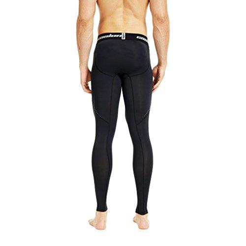 Coolomg pantaloni a compressione da running sport leggings, 10colori/modelli ad asciugatura rapida