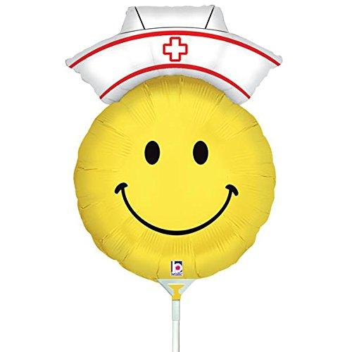 Air Filled Smiley Nurse Mylar Balloon (Nurse Party Decorations)