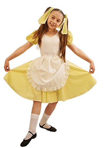 World Book Day-Fairytale GOLDILOCKS Child's Fancy Dress Costume - All Ages (Child Fairy Costume Uk)