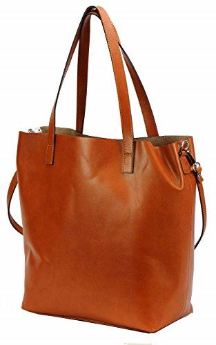 Leather IT Damentasche ECHT XXL Shopper Tasche Cognac BOZANA Luxus Berlin LEDER 7WqB6xvnzw
